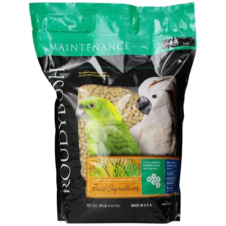 Medium Bird (Daily Maintenance Bird Food, Medium, 10-Pound, No added sugars or colors By RoudyBush)