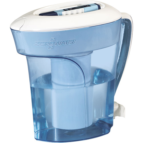 ZeroWater ZP-010 10-Cup Pitcher with Free TDS Meter (Total Dissolved Solids Meter)
