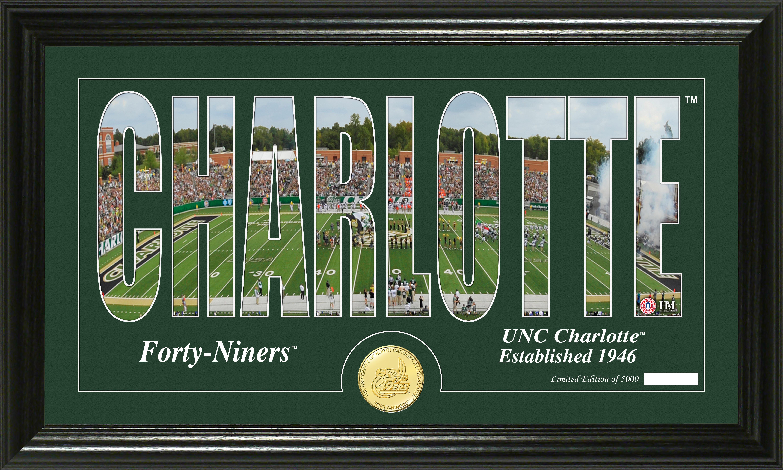 North Carolina Charlotte 49ers Bronze Coin Panoramic Photo