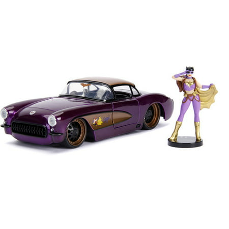 Corvette Cap (DC Comics Bombshells Batgirl & 1957 Chevy Corvette Die-cast Car, 1:24Scale Vehicle & 2.75-Inch Collectible Figurine )