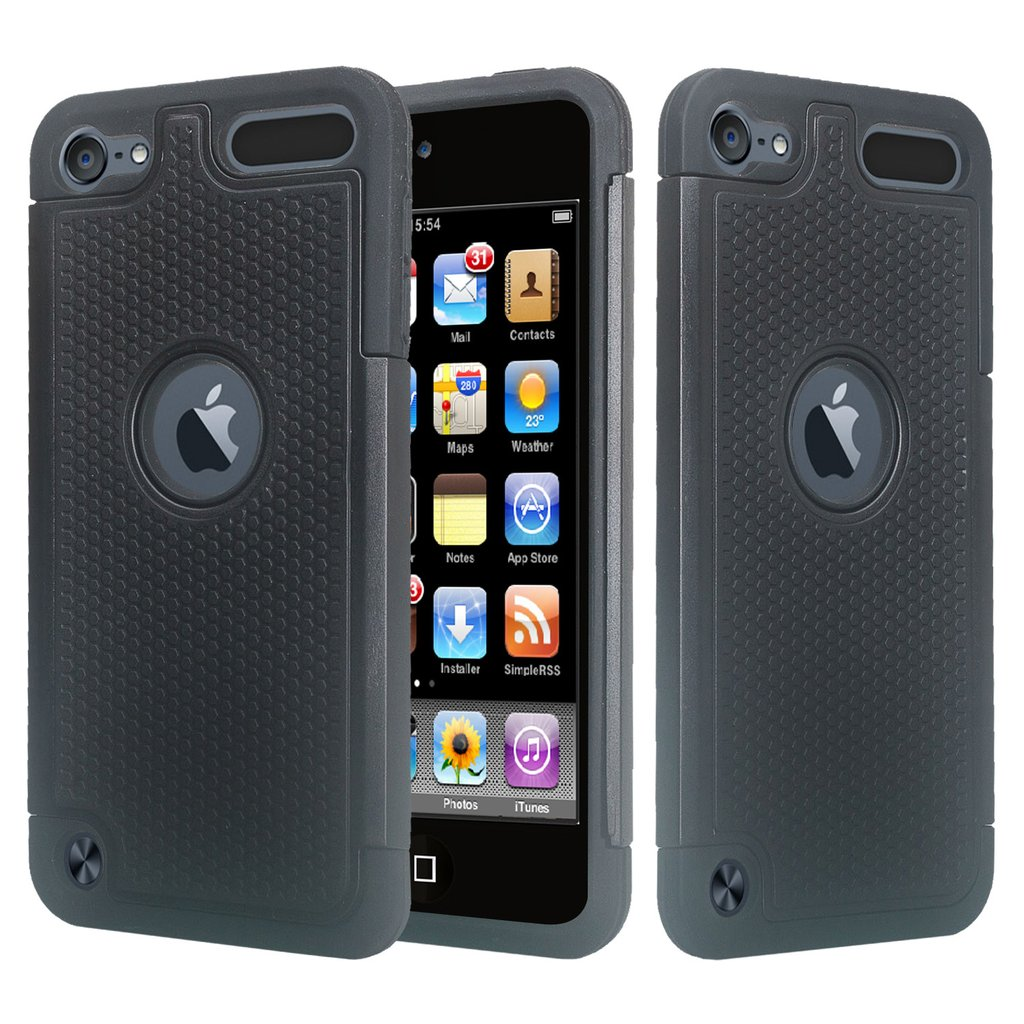 iPod Touch 5 Case,iPod Touch 6 Case,Heavy Duty High Impact Armor Case Cover Protective Case for Apple iPod touch 5 6th Generation - Black