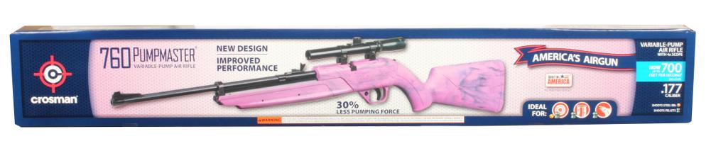 Crosman Pumpmaster 760PX Bolt Action Variable Pump Air Rifle w 4x15 Scope Pink by Crosman