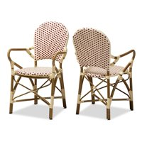 Baxton Studio Indoor and Outdoor Stackable Dining Chair 2-Piece Set by