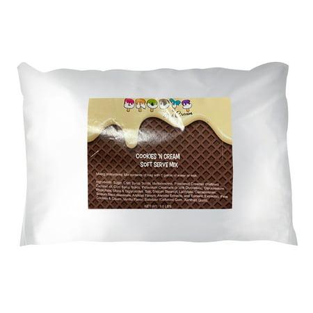 Arctic Ice Soft Serve Mix, Cookies and Cream Ice Cream, 3 lb Bag (Works Great for Rolled Ice Cream) Ice Cream Tulip