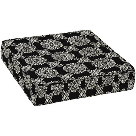 better homes and gardens outdoor deep seat seat cushion black tulip medallion deep seat pad - Better Homes And Gardens Outdoor