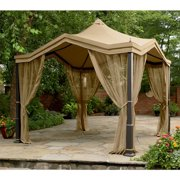 Garden Winds  Replacement Canopy Top for the Peaked Top Gazebo, Beige, RipLock 350