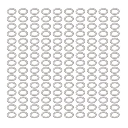 Uxcell 12mmx18mmx2mm Aluminum Motorcycle Hardware Drain Plug Washer (150-pack)