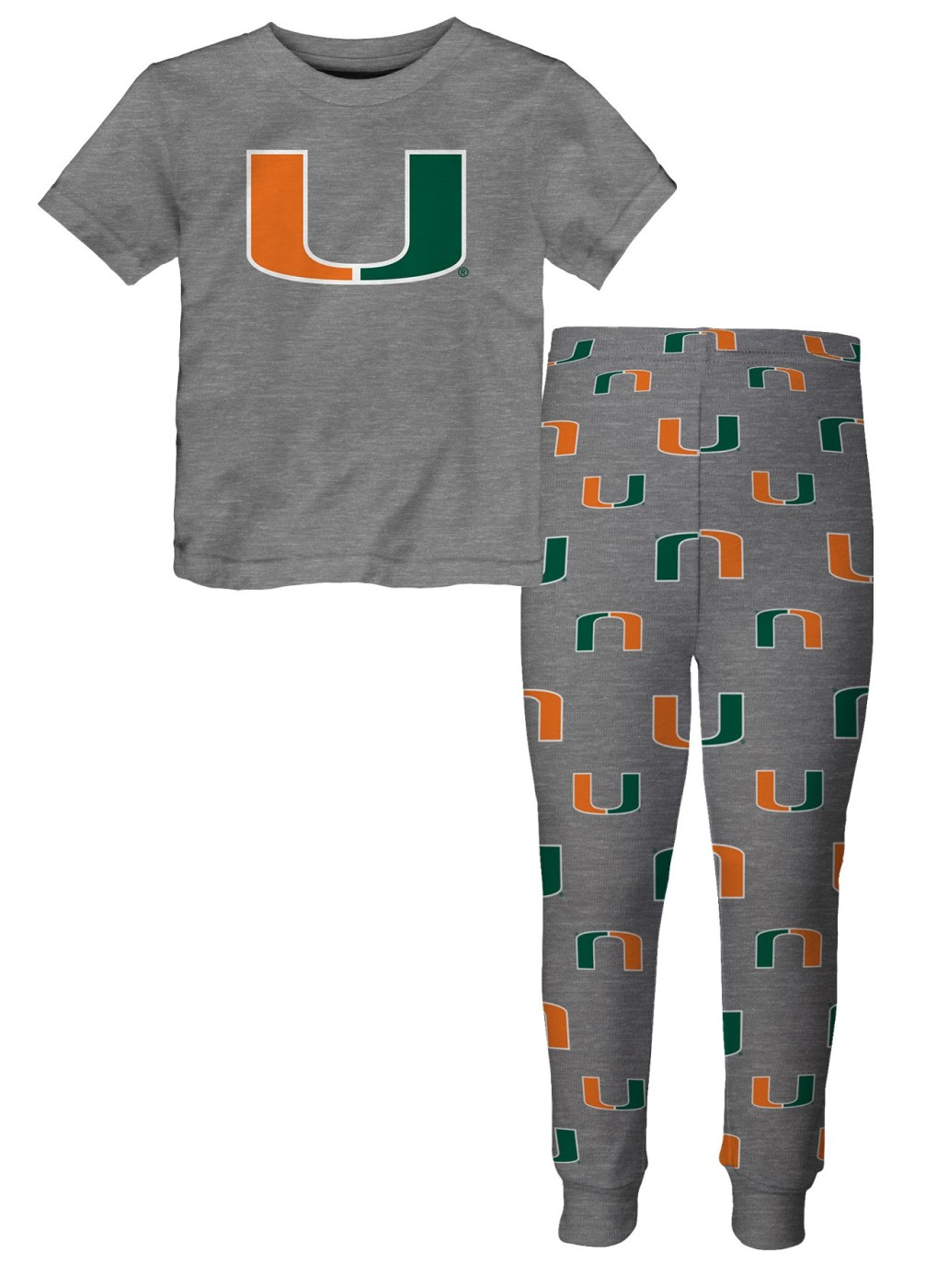"Miami Hurricanes Toddler NCAA ""Game Winner"" Pajama T-shirt & Sleep Pant Set by Outerstuff"