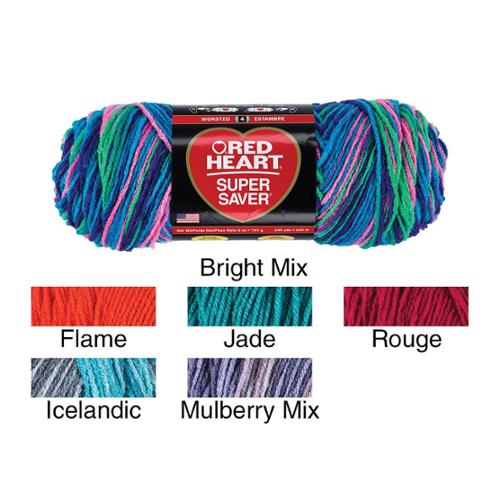 Red Heart Super Saver Yarn Rouge