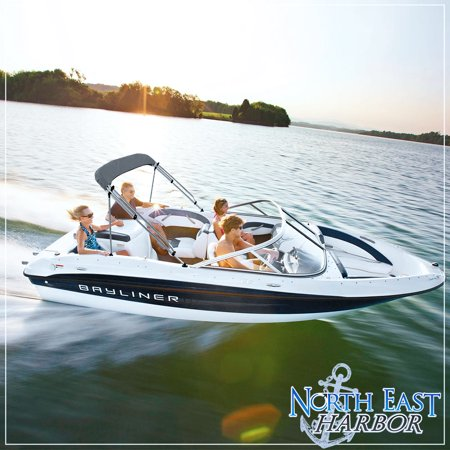 Bow Of A Boat >> North East Harbor 3 Bow Boat Bimini Top Cover Gray With Rear