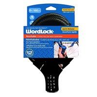 Wordlock Resettable 12mm 6ft Quick Release - Black