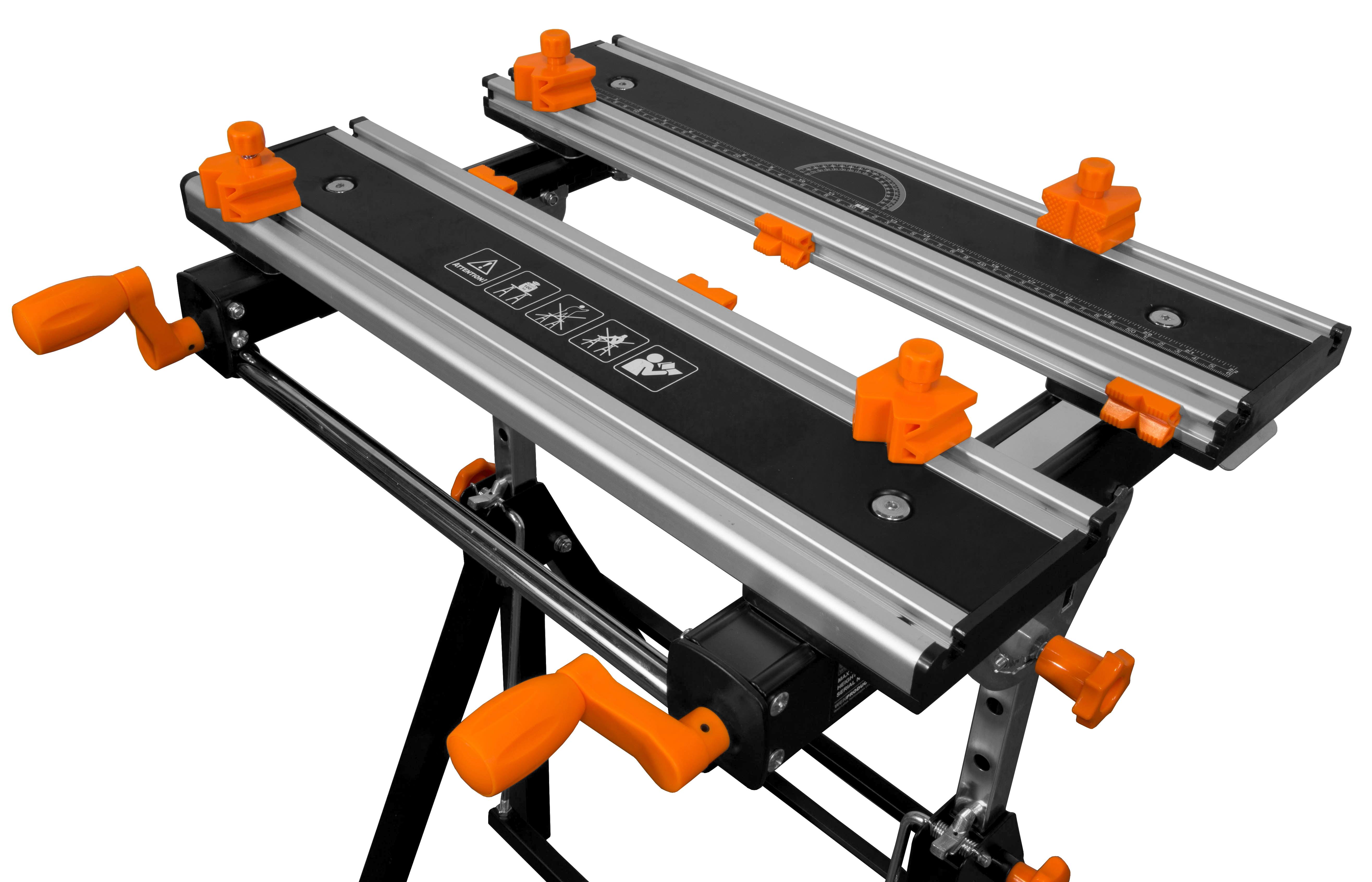 WEN 24-Inch Height Adjustable Tilting Steel Portable Work ...
