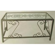 French Traditional Desk w Glass Top