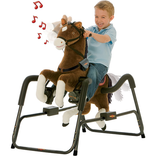 Rockin' Rider Legend the Deluxe Talking Plush Spring Horse with Animated Head, Tail, & Mouth