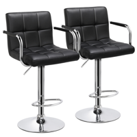 Deals on SmileMart 2pcs Adjustable Modern Bar Stools