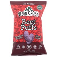 Vegan Rob's Beet Puffs, 3.5 Oz, Pack Of 12