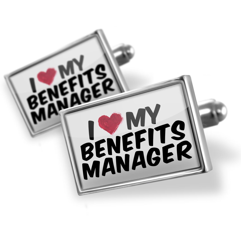 Cufflinks I heart love my Benefits Manager - NEONBLOND