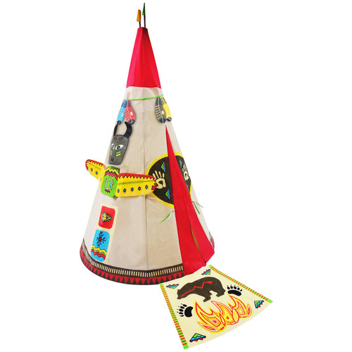 Checkey Limited Round Indian Play Teepee