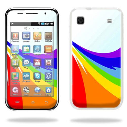 Mightyskins Protective Vinyl Skin Decal Cover for Samsung Galaxy Player 4.0 MP3 Player wrap sticker skins Rainbow Flood