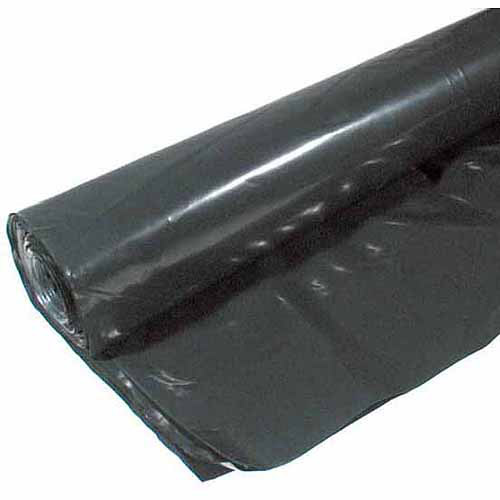 Poly-america 6 mL Tyco Polyethylene Black Plastic Sheeting, 40' x 100'