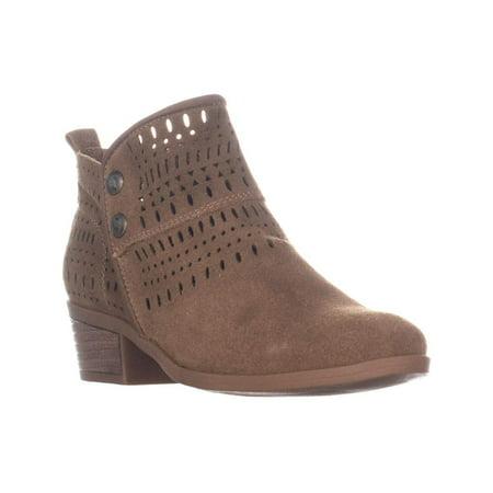 Bare Traps Womens Georgia Leather Almond Toe Ankle Fashion, Almond, Size -
