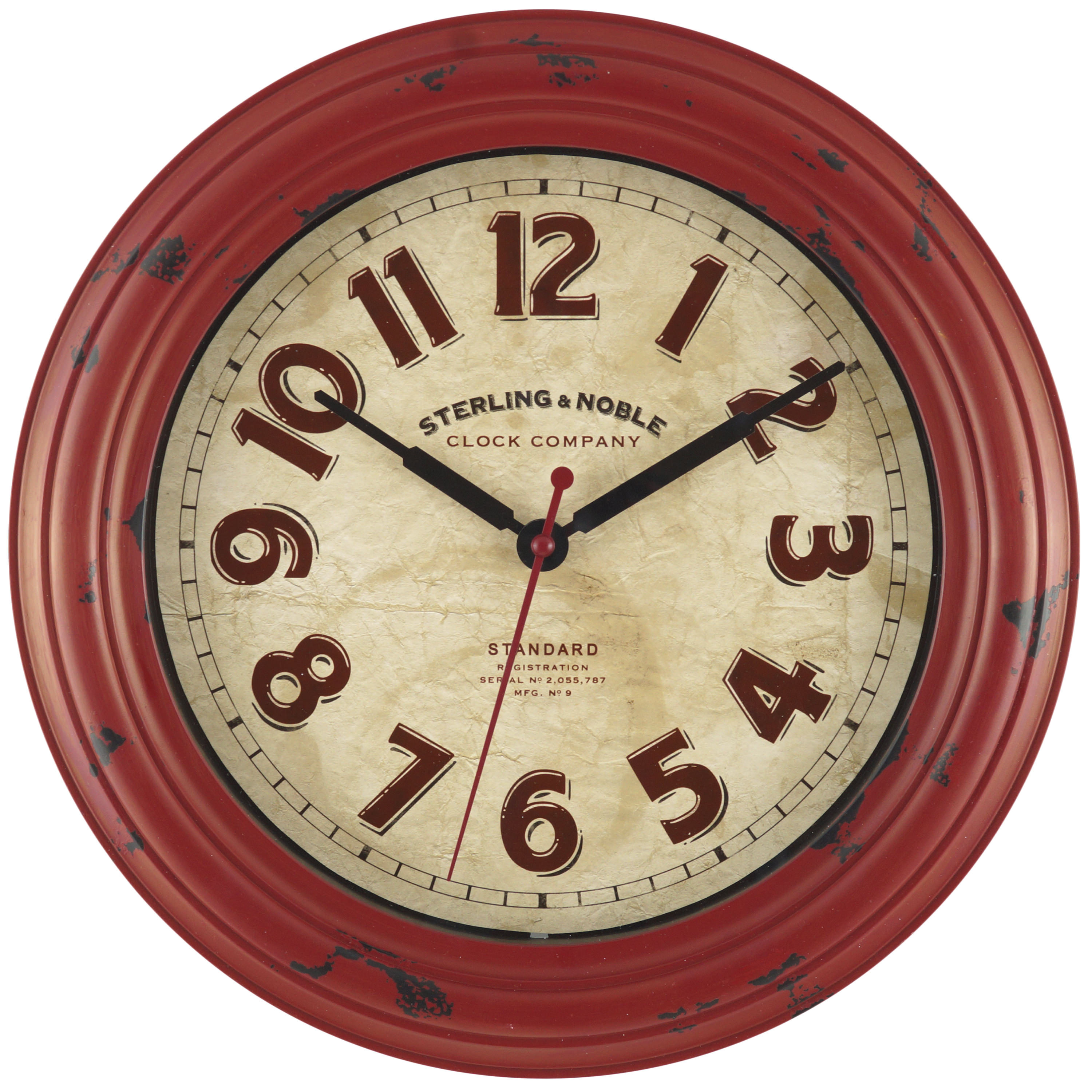 "Mainstays 11.5"" Red Wall Clock"