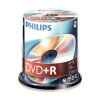 Philips DR4S6B00F/17 4.7GB 16x DVD+Rs, 100-ct Cake Box Spindle