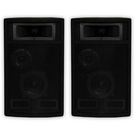 Acoustic Audio PA-500X Passive 800 Watt 3-Way Speaker Pair DJ PA Karaoke Studio Speakers