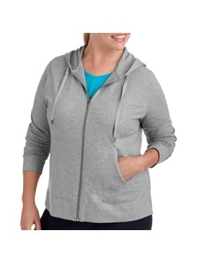 97873883 Product Image Womens Plus Size Dri More Zip Up Hoodie