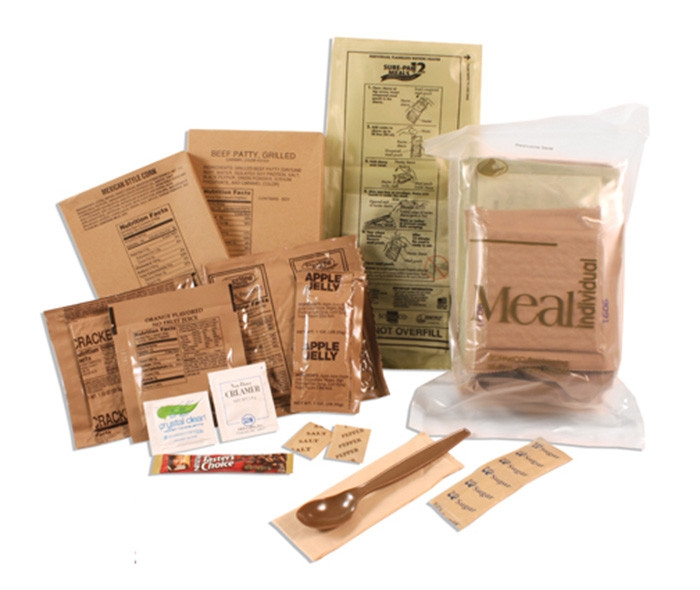 Click here to buy Sure-Pak Genuine GI US Military MRE Complete Meals with Heater 12 Pack by Rothco.