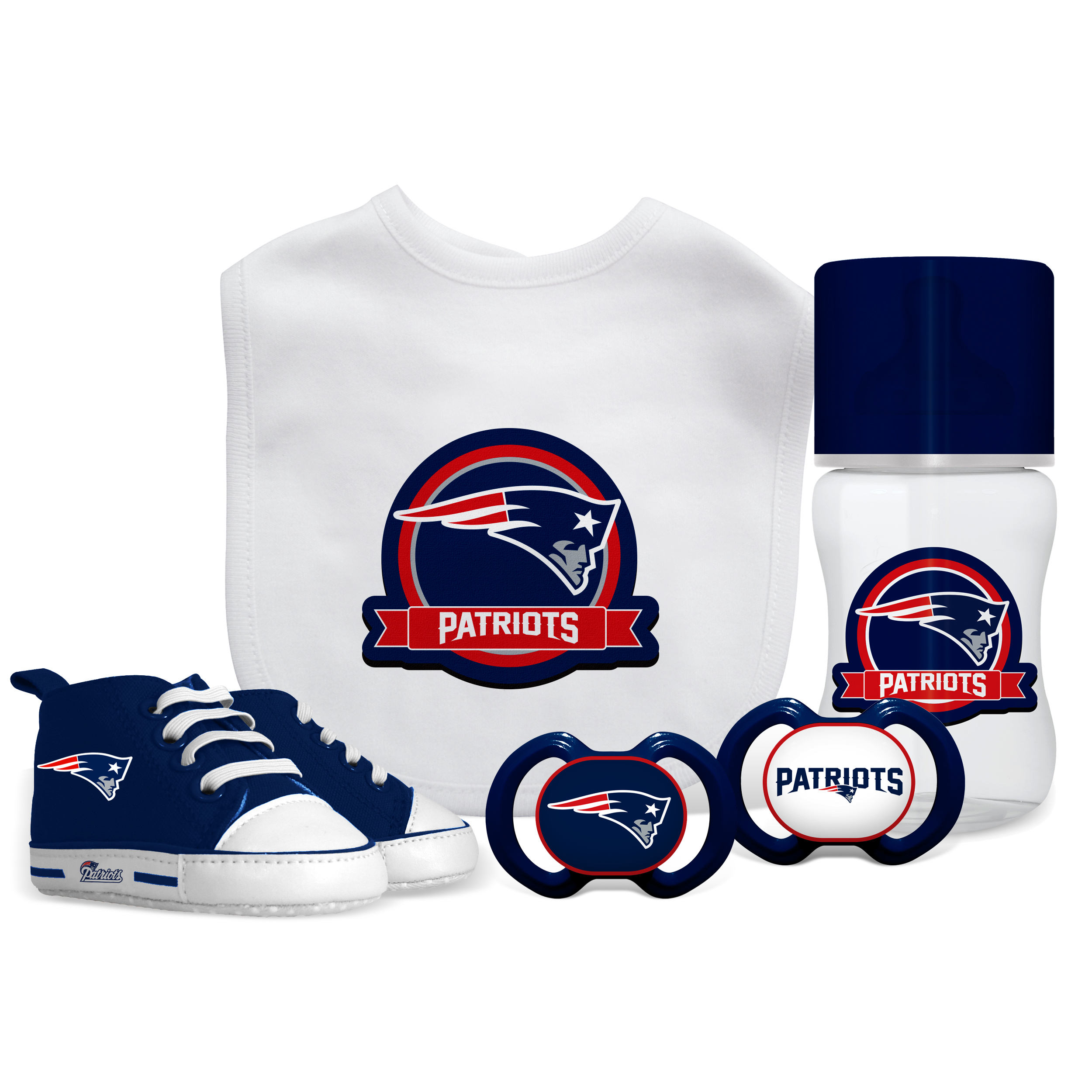 NFL New England Patriots 5-Piece Baby Gift Set