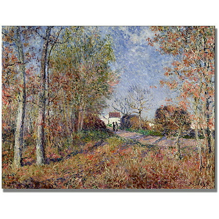"Trademark Fine Art ""A Corner of the Woods at Sablons"" Canvas Art by Alfred Sisley"