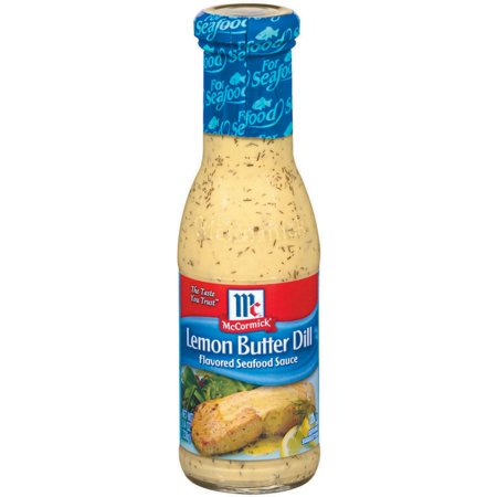(2 Pack) McCormick Lemon Butter Dill Seafood Sauce, 8.4