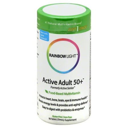 Rainbow Light Active Adult 50+⢠Multivitamin 90 Tab W/CoQ10