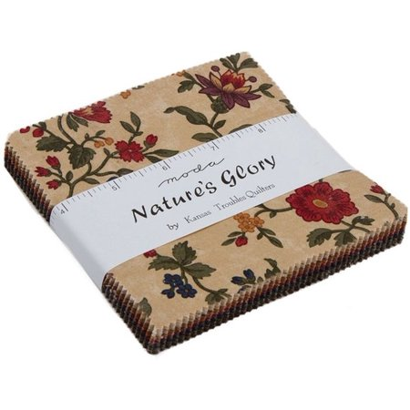 Kansas Jayhawks Fabric - Nature's Glory Moda Charm Pack by Kansas Troubles Quilters; 42 - 5