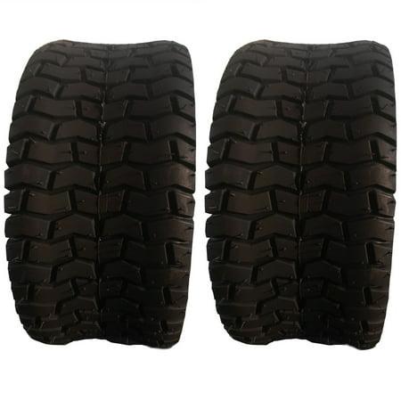 UBesGoo 2 x Tires 4PLY Turf Lawn Mower Go Kart Tires 15x6.00x6 SW: