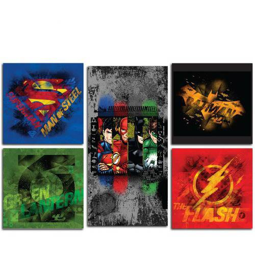Justice League Canvas Print, Set of 5