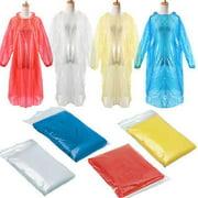 Best Rain Ponchos - iLH 5x Disposable Adult Emergency Waterproof Rain Coat Review