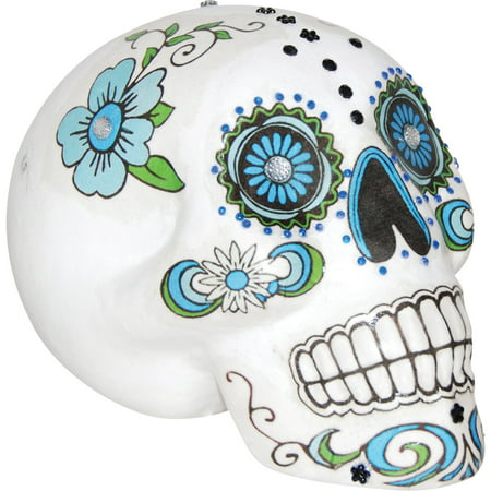 7 in. Sugar Skull Halloween Decoration - Cool Halloween Horderves
