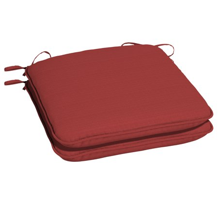 Better Homes & Gardens Santa Fe Red 18 x 19 in. Outdoor Universal Seat Pad w EnviroGuard, Set of -