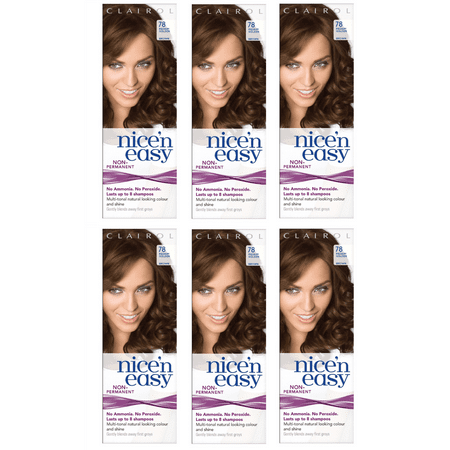 Clairol Nice n' Easy Hair Color #78 Medium Golden Brown (Pack of 6) UK Loving (Best Home Hair Dye Uk)