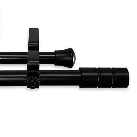 Theo Double Curtain Rod 66-120 inch - Black - image 1 de 1
