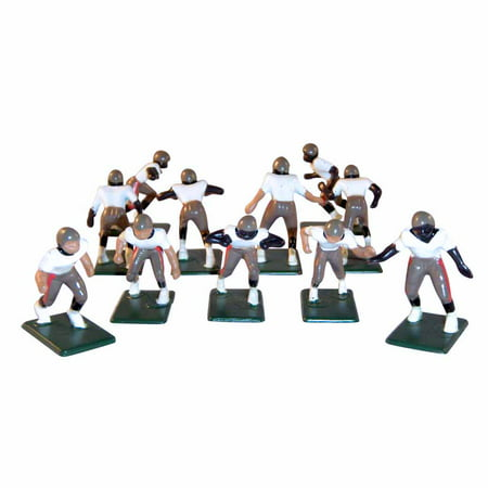 Electric Football 11 Regular Size Players in Tan Red Black Away Uniform - Jerry Rice Football Player