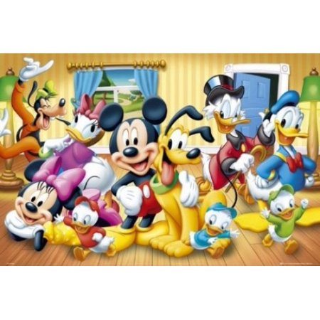 Mickey Mouse Disney Group Poster Poster Print
