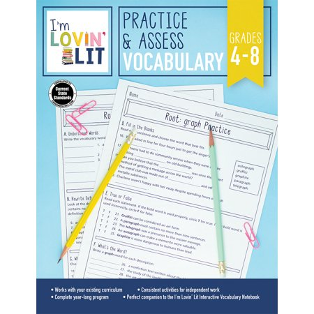 I'm Lovin' Lit Practice & Assess: Vocabulary, Grades 4 - (Best Practices For Teaching Vocabulary)