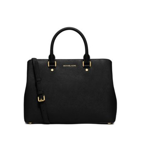 Michael Kors  Savannah Large Black Satchel Handbag