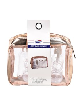 5abb78e679a6 Product Image American Tourister 9 Piece Travel Bottle Set - Rose Gold  (Dims  7 x 2.5