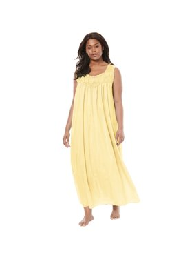0969e04cc7 Product Image Only Necessities Plus Size Long Tricot Knit Nightgown