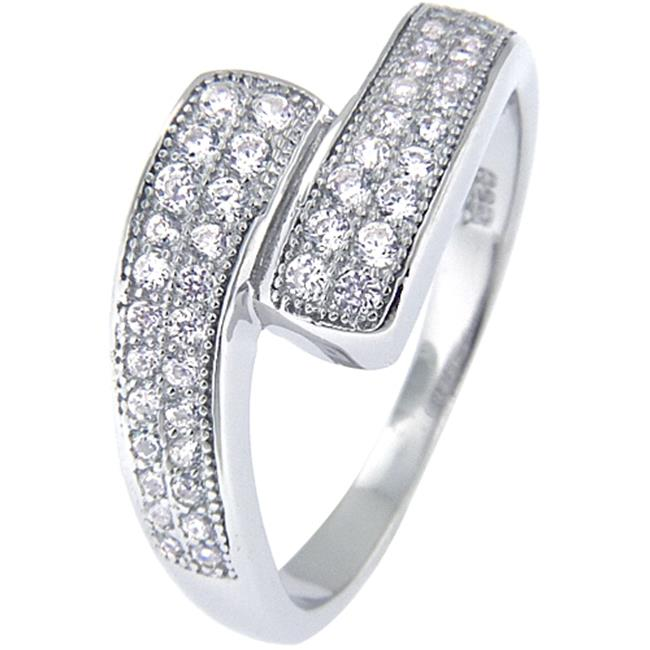 Doma Jewellery MAS02424-9 Sterling Silver Ring with Micro Set Cubic Zirconia - Size 9