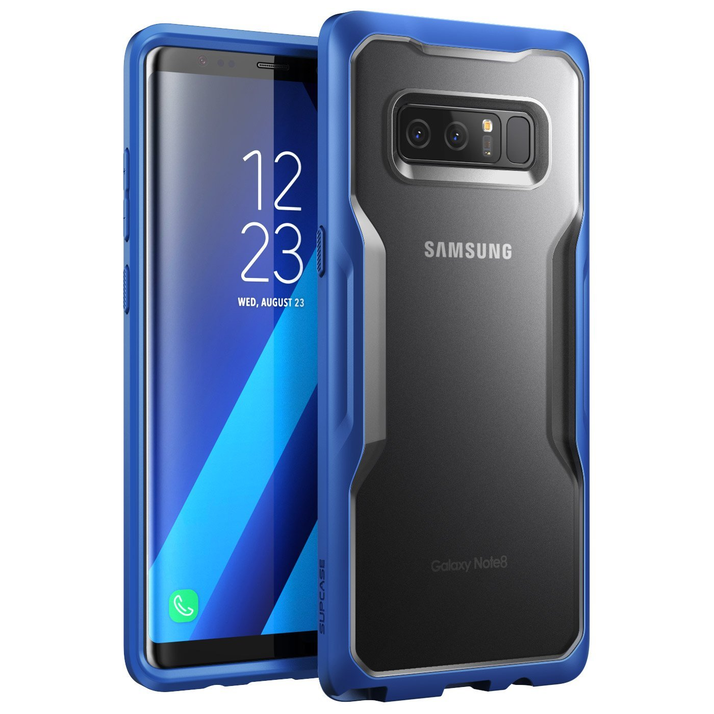 SUPCASE Samsung Galaxy Note 8 Case Unicorn Beetle Series Premium Hybrid Protective Clear Case 2017 Release (Frost/Navy)